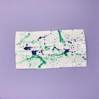 DENIM MASK  COVER  white/mint×blue 3505  Lサイズ