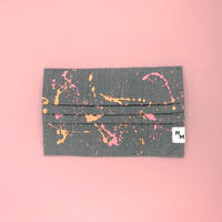 DENIM MASK  COVER  gray/pink×orange 3495  Mサイズ