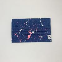 DENIM MASK  COVER  light indigo/neon pink×white 3611  Mサイズ