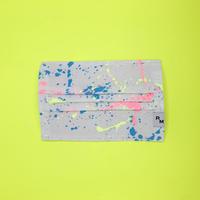 DENIM MASK  COVER  white/neon pink×neon yellow×blue 3475  Mサイズ