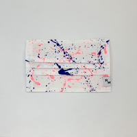 DENIM MASK  COVER  white/neon pink×blue 3605  Mサイズ