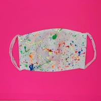 DENIM MASK- MASK-3438   white/neon6 colors  Mサイズ