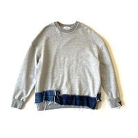 Big sweat-shirt   gray back pile /denim    Mサイズ