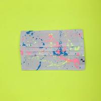 DENIM MASK  COVER  white/neon pink×neon yellow×blue 3473  Mサイズ