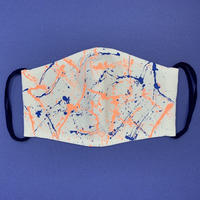 DENIM MASK- 3590  white/orange×blue  Lサイズ