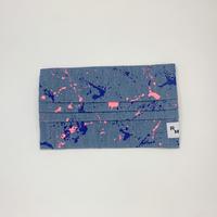 DENIM MASK  COVER bleach/neon pink×blue 3613  Mサイズ