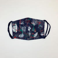 DENIM MASK- 2188  indigo/white×green×red×silver  Mサイズ