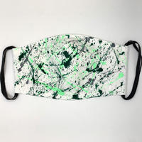 DENIM MASK- 2563 white/soft green×green× gray  Lサイズ