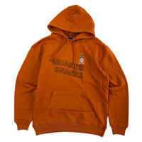 QUARTER SNACKS Snackman Hoody RUST  クォータースナックス パーカー