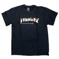 THRASHER  INTRO BURNER S/S TEE  BLACK スラッシャー Tシャツ