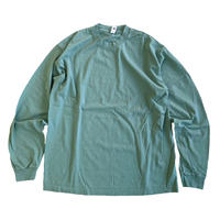 LOS ANGELES APPAREL 6.5oz Garment Dye Crew Neck L/S TEE  ATLANTIC GREEN ロサンゼルスアパレル 長袖Tシャツ
