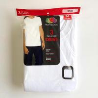 Fruit of the Loom  3CREWS TEE  White フルーツオブザルーム Tシャツ 3枚パック