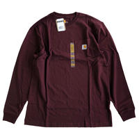 CARHARTT /  L/S WORKWEAR POCKET TEE   PORT  カーハート 長袖ポケットTシャツ