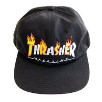 THRASHER  FLAME MAG SNAPBACK   BLACK スラッシャー キャップ