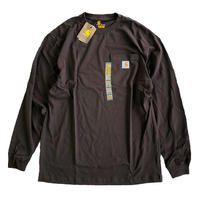 CARHARTT /  L/S WORKWEAR POCKET TEE   DARK BROWN  カーハート 長袖ポケットTシャツ
