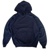 LOS ANGELES APPAREL  Garment Dye French Terry Pullover Hoodie Black  ロサンゼルスアパレル 後染め フーディ パーカー