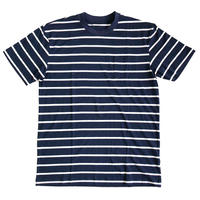 OG BLANK Striped Pocket Tee NAVY ボーダーTシャツ
