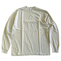 LOS ANGELES APPAREL 6.5oz Garment Dye Crew Neck L/S TEE  CEMENT ロサンゼルスアパレル 長袖Tシャツ