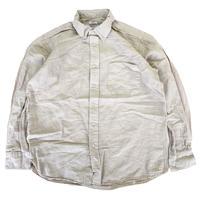 THE BAGGY  LINEN & COTTON L/S BD SHIRTS  V.WHT  バギー リネン コットンシャツ ベージュグレー