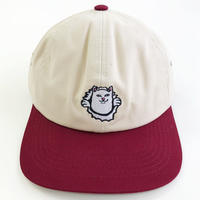 RIPNDIP / NERMAMANIAC 6 PANEL  TAN/BURGUNDY リップンディップ キャップ