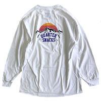 QUARTER SNACKS Mountain L/S Tee  WHITE クォータースナックス 長袖Tシャツ