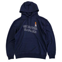 QUARTER SNACKS Snackman Hoody NAVY クォータースナックス パーカー