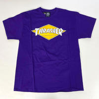 THRASHER   DIAMOND LOGO TEE PURPLE スラッシャー Tシャツ
