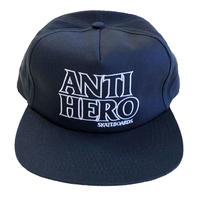 ANTI HERO BLACK HERO OUTLINE EMBROIDERY  SNAPBACK NAVY キャップ