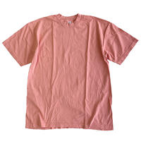 LOS ANGELES APPAREL 6.5oz Garment Dye CREW S/S TEE CORAL ロサンゼルスアパレル Tシャツ