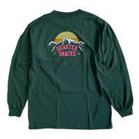 QUARTER SNACKS Mountain L/S Tee  FOREST GREEN クォータースナックス 長袖Tシャツ