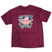BRONZE 56K  BACK TAT  TEE  BURGUNDY  Tシャツ