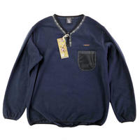 LAST CHANCE  FLEECE H/ZIP PULLOVER  NAVY  プルオーバー フリース