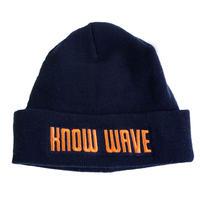 KNOW WAVE / knitcap NAVY ノーウェーブ ニットキャップ