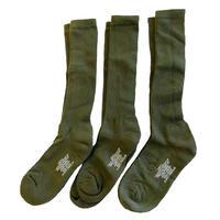 US MILITARY  3pack ANTI-MICROBIAL BOOT SOCK OD 米軍 靴下 ソックス