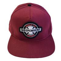INDEPENDENT / 95 BTG RING CAP マルーン