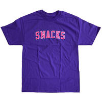 QUARTER SNACKS Varsity Tee Purple クォータースナックス Tシャツ