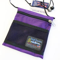Tough Traveler / LARGE POUCH WITH MESHPOCKET  PURPLE タフトラベラー ポーチ サコッシュ