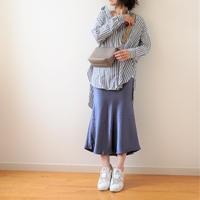 satin skirt(119-3206)