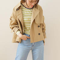 【予約販売】short trench jacket(119-2246)