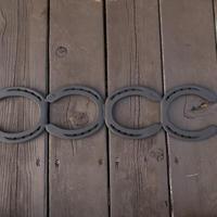 蹄鉄ロストル 4連  耐熱塗装  【350029】