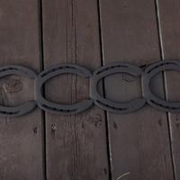 蹄鉄ロストル 4連  耐熱塗装  【350035】