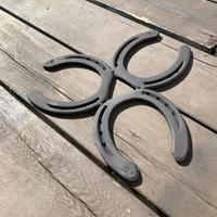 蹄鉄トリベット    耐熱塗装