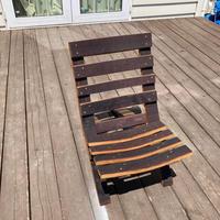 樽材 組立式 ローチェア