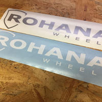 ROHANA ロゴステッカー(切り文字タイプ) W:280mm カラー(ホワイト/シルバー)