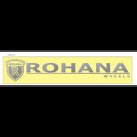 Rohana wheels 切り文字ステッカー 250mm×45mm ホワイト・シルバー