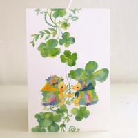 ポストカード ハリネズミのリップとプップ(四つ葉)