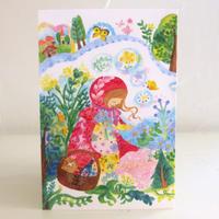 ポストカード グリム童話「赤ずきん」