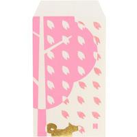 ぽち袋 桜とポチ