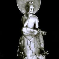 ハイブリッド仏像ポスター「中宮寺如意輪観音」(全身)四つ切サイズ