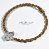 ハーキマー水晶の原石バングル